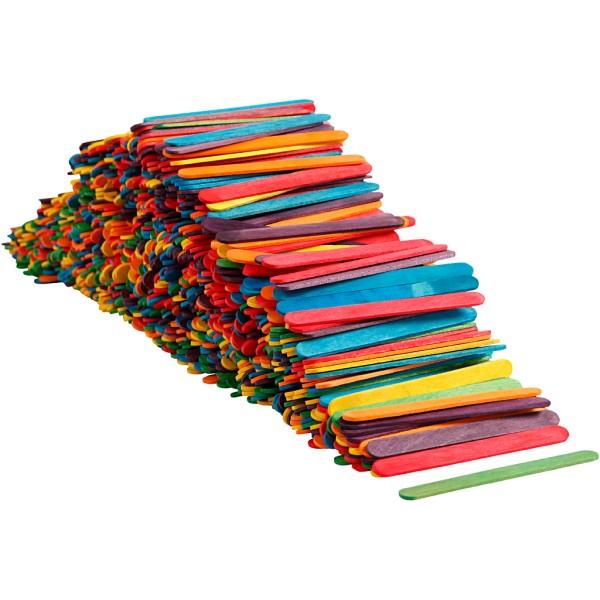 Bâtonnets en bois - couleurs assorties - 10 x 11,4 cm - 1000 pcs - Photo n°1