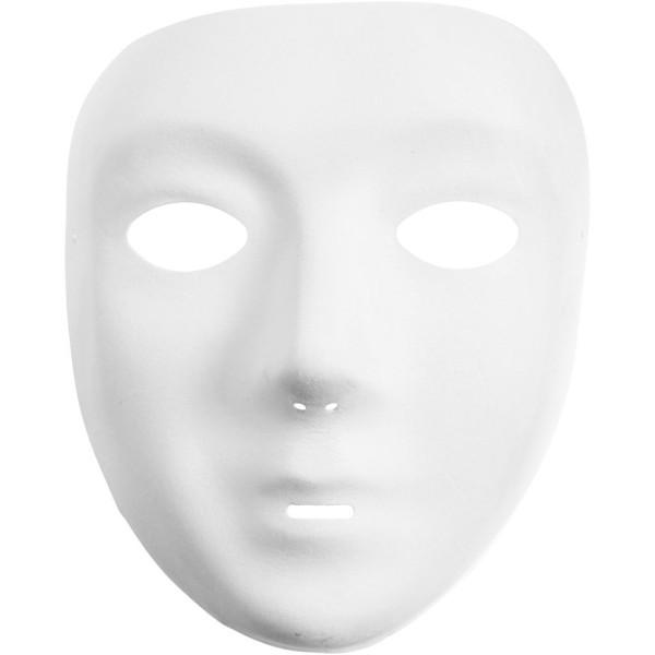 Masque visage fini velours à peindre - 14 x 17,5 cm - Photo n°1