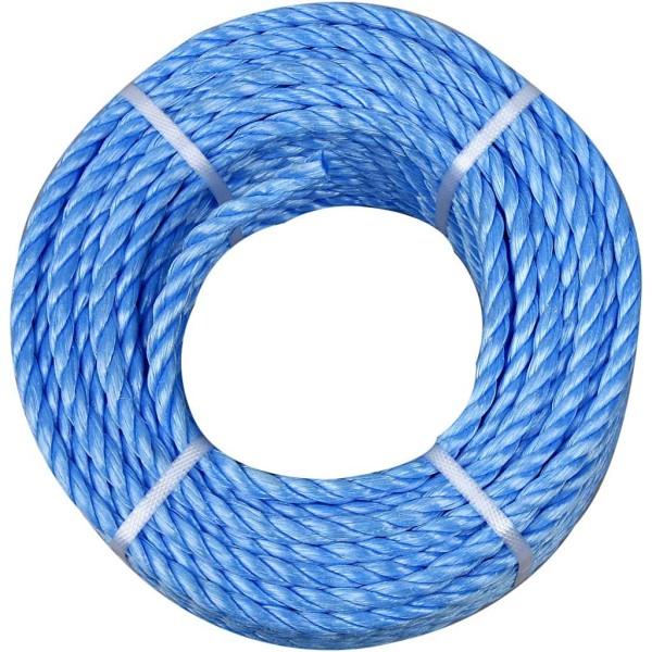 Corde en polypropylène - Bleu - 6 mm x 20 m - Photo n°1