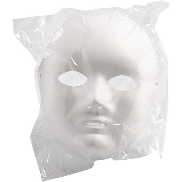 Masque visage - Blanc - 17 x 22 cm - Photo n°2