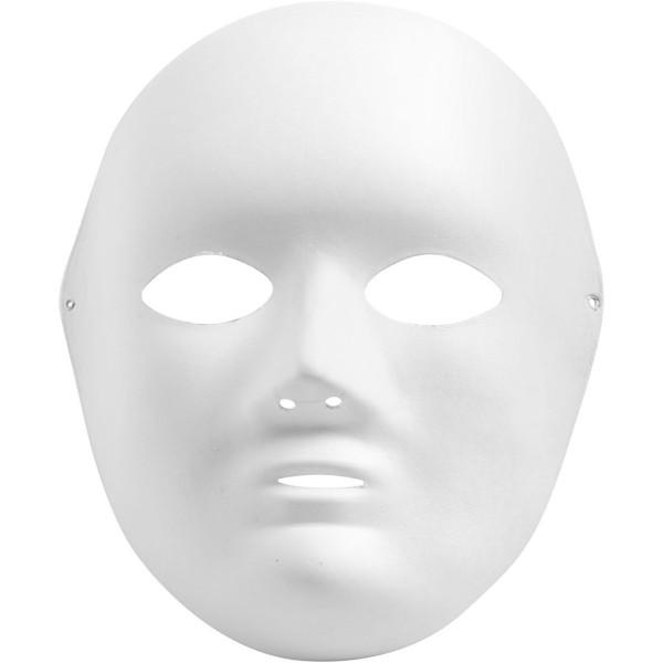 Masque visage - Blanc - 17 x 22 cm - Photo n°1