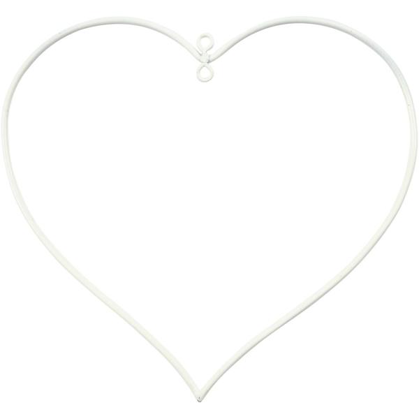 Suspension coeur en métal - 13 x 13 cm - 10 pcs - Photo n°1