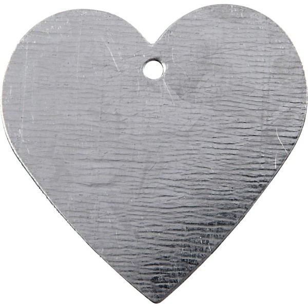 Lot de coeurs en métal galvanisé - 3 x 3 cm - 15 pcs - Photo n°1