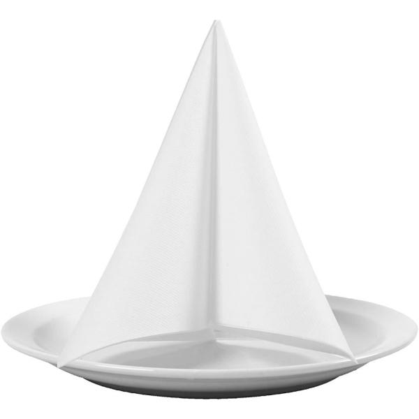 Serviettes en papier - Blanc - 40 x 40 cm - 20 pcs - Photo n°1