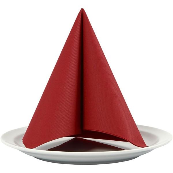 Serviettes en papier - Rouge vin - 40 x 40 cm - 20 pcs - Photo n°1