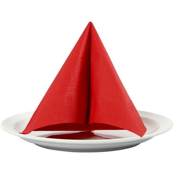 Serviettes en papier - Rouge - 33 x 33 cm - 20 pcs - Photo n°1