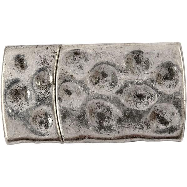 Fermoir magnétique - Argent antique - 7 x 29 mm - Photo n°1