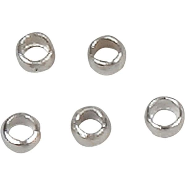 Perles à écraser argentées 2,5 mm - 100 pcs - Photo n°1