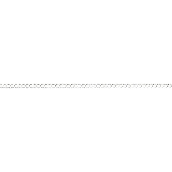 Chaine Jaseron argentée - 3 mm x 20 m - Photo n°1
