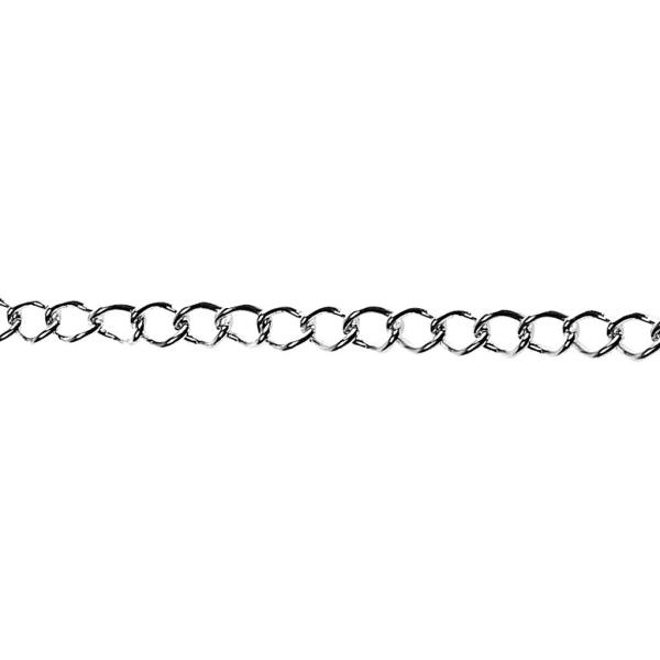 Chaine Jaseron argentée - 3 mm x 2 m - Photo n°1
