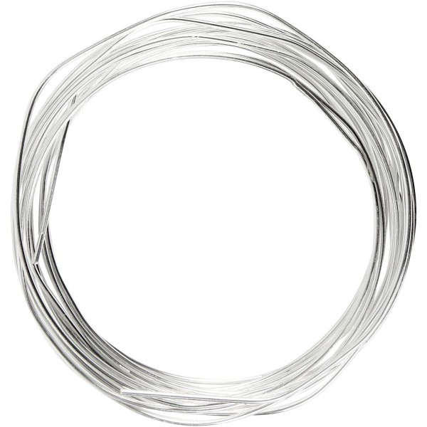Fil métallique - Argent - 1,2 mm x 3 m - Photo n°1