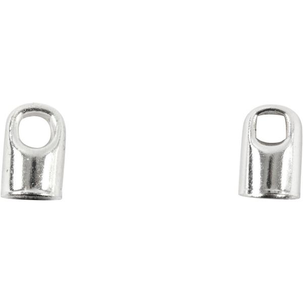 Embouts pour bijoux - Argenté - 7 x 4,5 mm - 50 pcs - Photo n°1