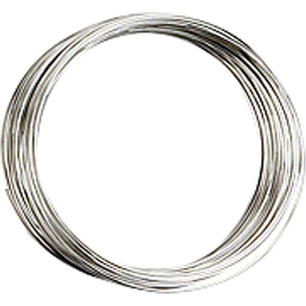 Bracelet spirale argenté - 0,7 mm x 5 cm - Photo n°1
