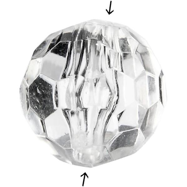 Perles acryliques - Ronde à facettes - 12 mm - 77 pcs - Photo n°1