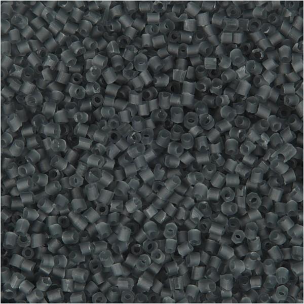 Perles de rocaille 15/0 - Gris transparent - 500 g - Photo n°1