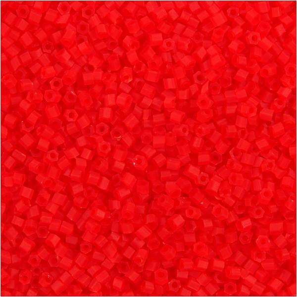 Perles de rocaille 15/0 - Rouge transparent - 500 g - Photo n°1