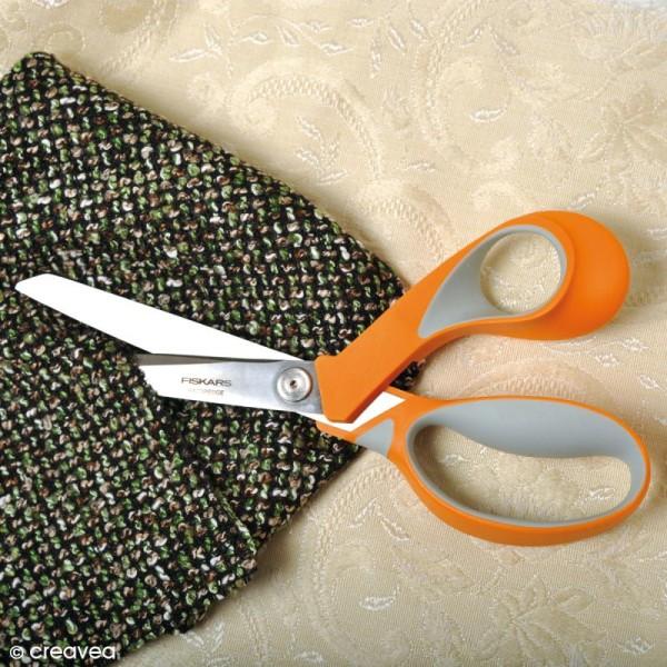 Ciseaux couture tissu Fiskars - Softgrip RazorEdge - 23 cm - Photo n°2