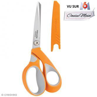 Ciseaux couture tissu Fiskars - Softgrip RazorEdge - 21 cm