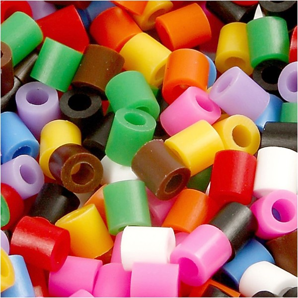 Assortiment de perles à repasser - couleurs classiques - 5 x 5 mm - 30000 pcs - Photo n°1