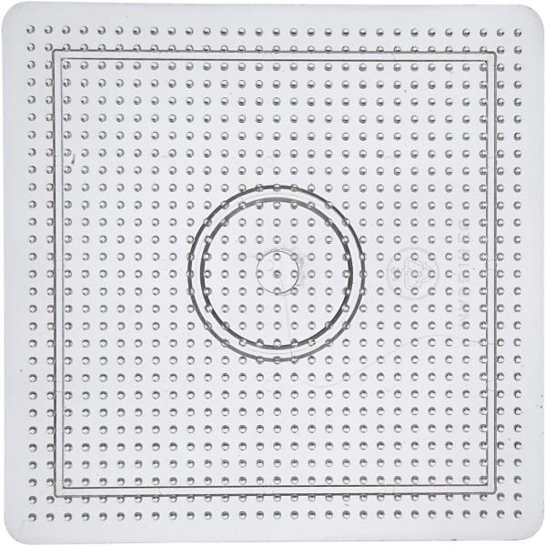 Plaque transparente pour perles à repasser Midi - Carré - 14,5 x 14,5 cm - Photo n°1