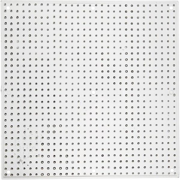 Plaque carrée pour perles à repasser Midi - 14,5 x 14, 5 cm - 10 pcs - Photo n°1