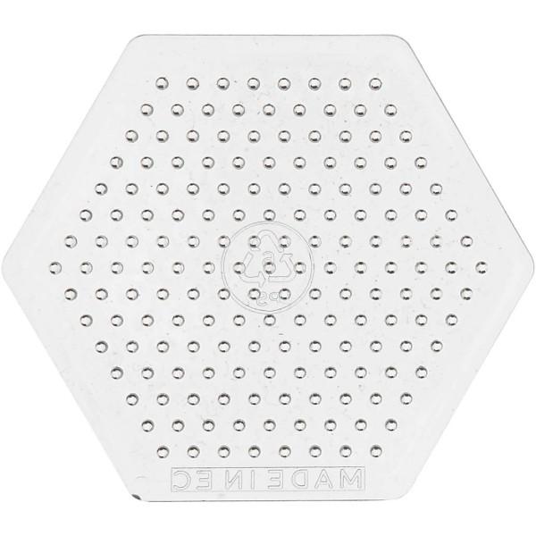 Plaque hexagone pour perles à repasser Midi - 7,5 cm - 10 pcs - Photo n°1