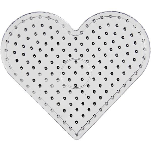Plaque transparente pour perles à repasser Maxi - Coeur - 17 x 15,5 cm - Photo n°1