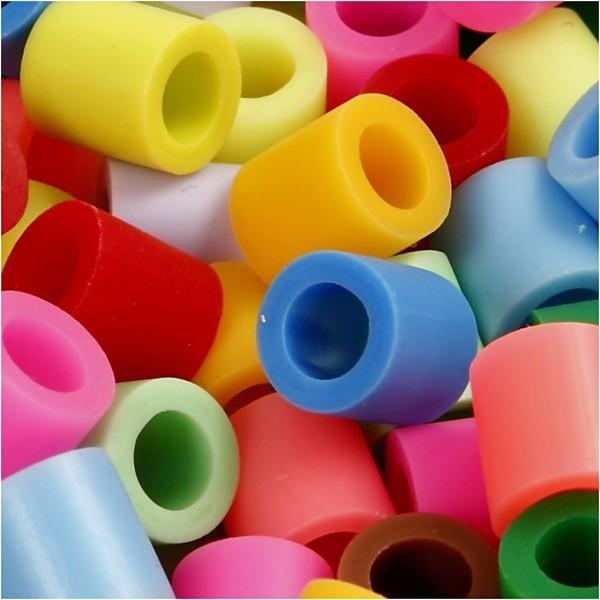 Assortiment de perles à repasser - 10 couleurs - 10 x 10 mm - 1000 pcs - Photo n°1