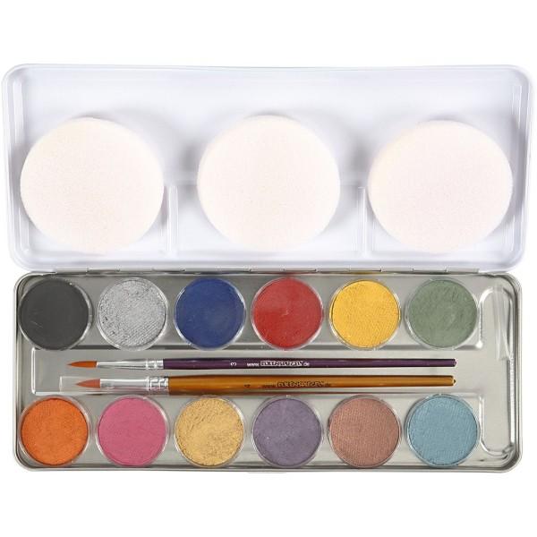 Palette de maquillage à l'eau Eulenspiegel - 12 couleurs - Photo n°1
