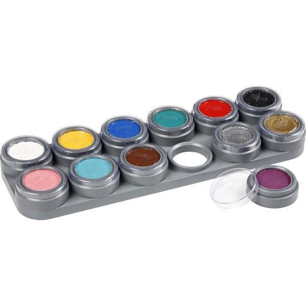 Palette de maquillage à l'eau - 12 x 2,5 ml - Photo n°1