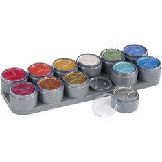 Palette de maquillage à l'eau - Couleurs nacrées - 12 x 15 ml