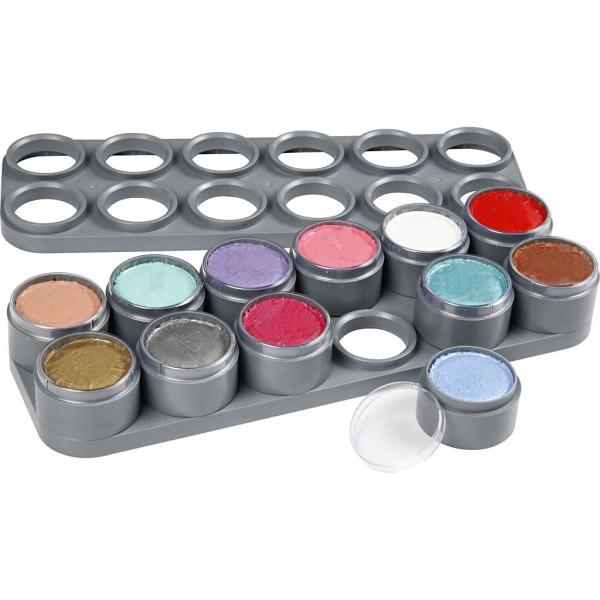 Palette de maquillage à l'eau - Assortiment de couleurs - 12 x 15 ml - Photo n°1