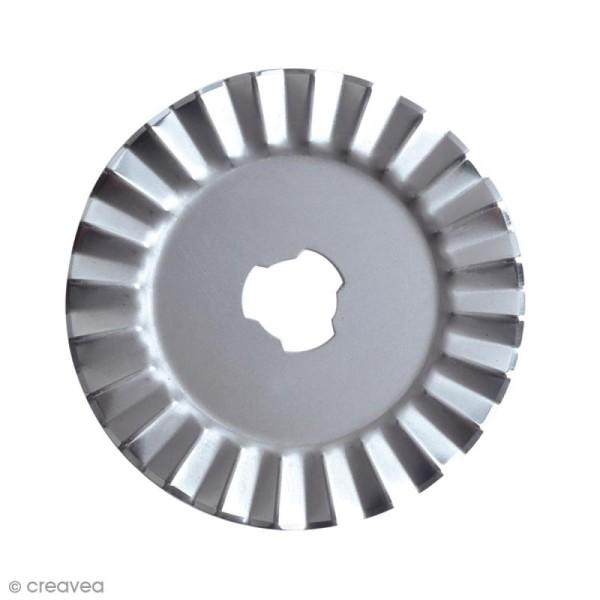 Lame pour cutter rotatif Fiskars - Zig Zag - 45 mm - Photo n°2