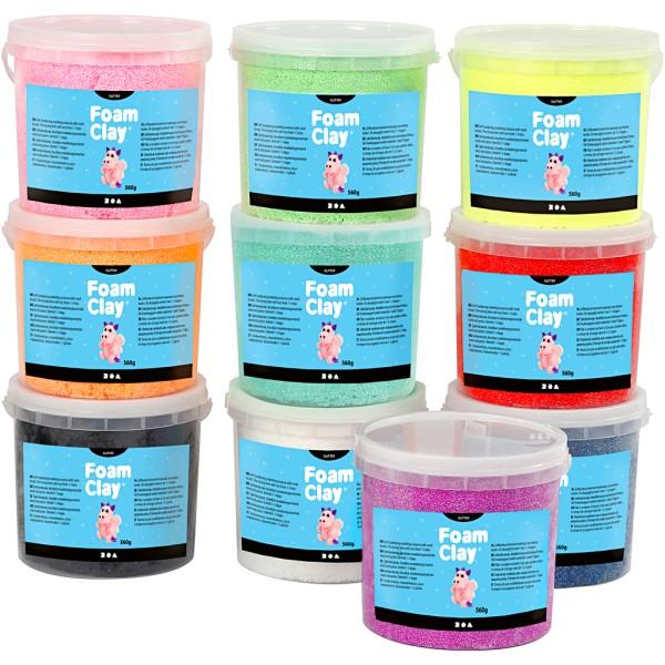 Foam Clay®, 10x560 gr, Couleurs assorties - Photo n°1