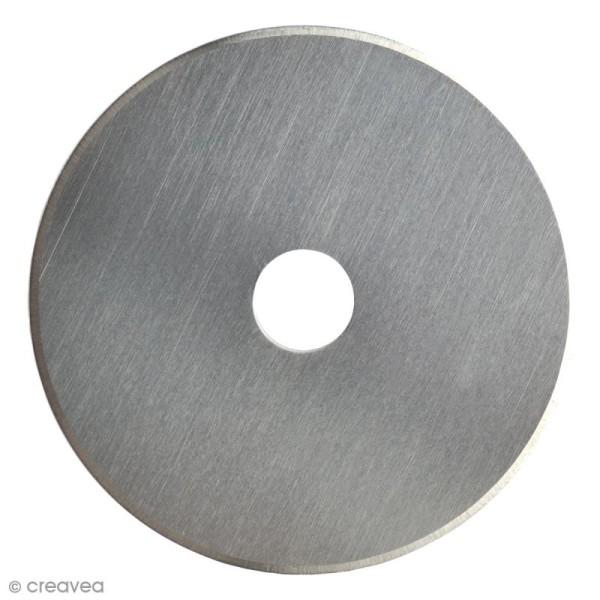 Lame titanium pour cutter rotatif Fiskars - Coupe droite - 45 mm - Photo n°2