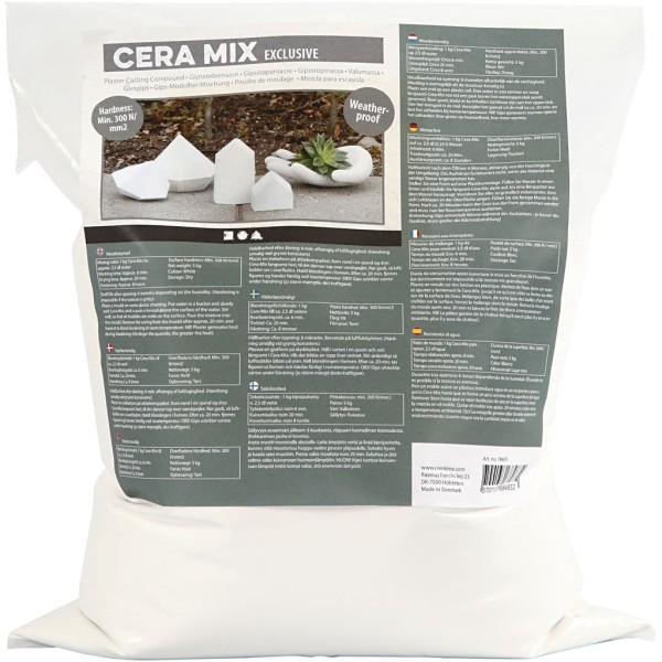 Poudre de moulage Cera-Mix de Luxe, 5 kg, blanc - Photo n°1