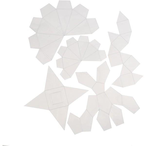 Moules en plastique transparent à assembler - 5 designs - 6 à 13 cm - 5 pcs - Photo n°1