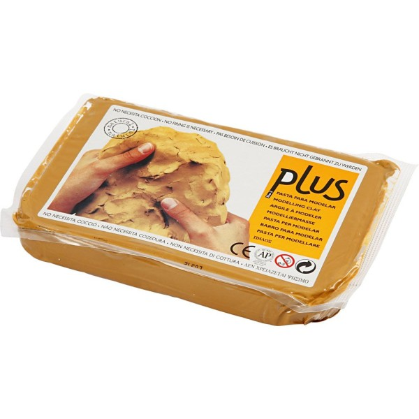 Argile auto-durcissante - Jaune curry - 1 kg - Photo n°1