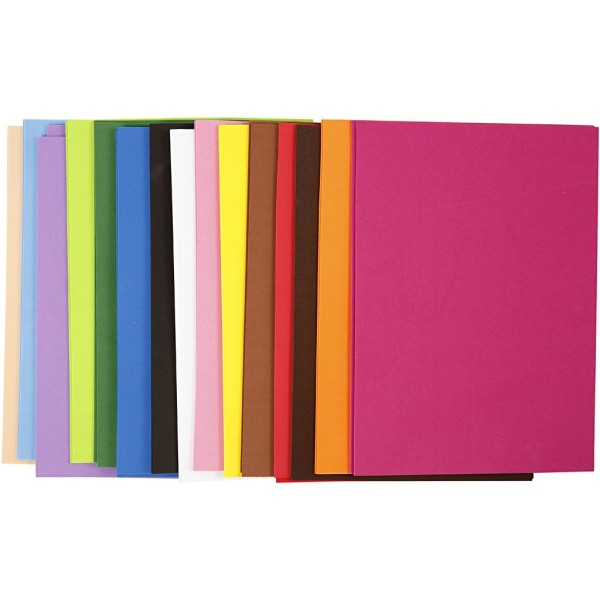 Lot de papier mousse EVA - Couleurs assorties - 21 x 30 cm - 30 pcs - Photo n°1