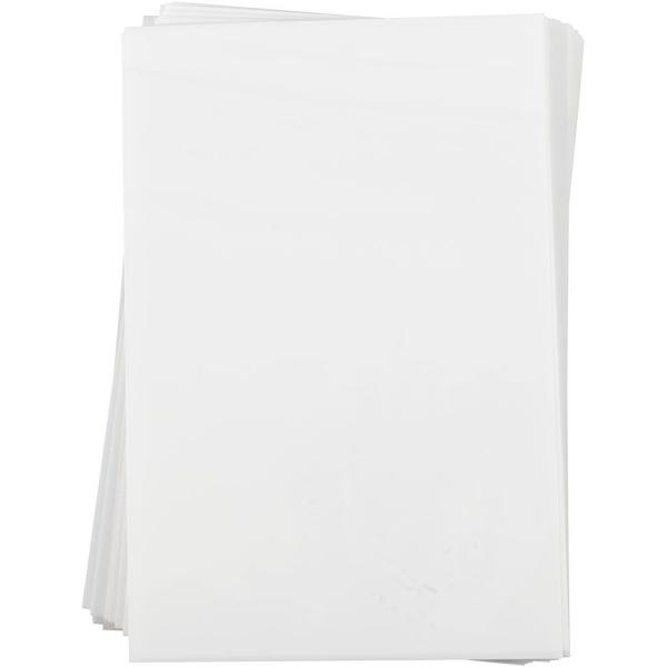 Assortiment de plastique dingue 20 x 30 cm - Blanc mat - 100 pcs - Photo n°1