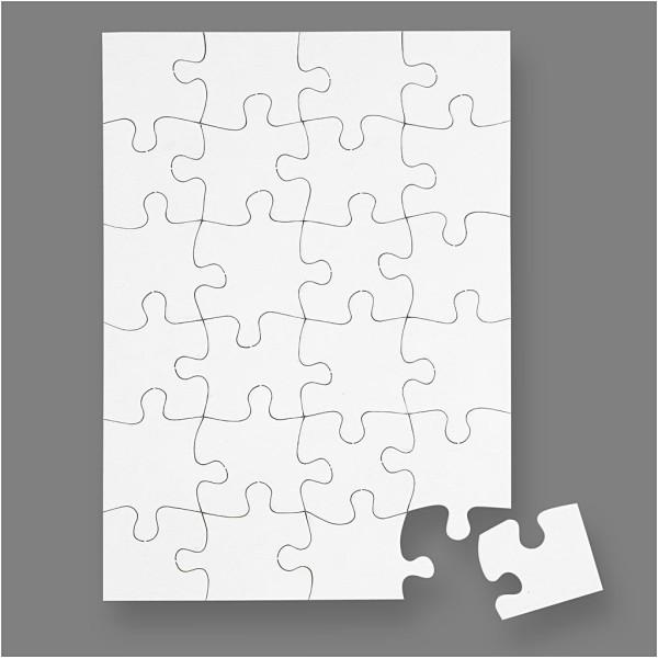 Puzzle en carton à décorer - 15 x 21 cm - 1 pce - Photo n°1
