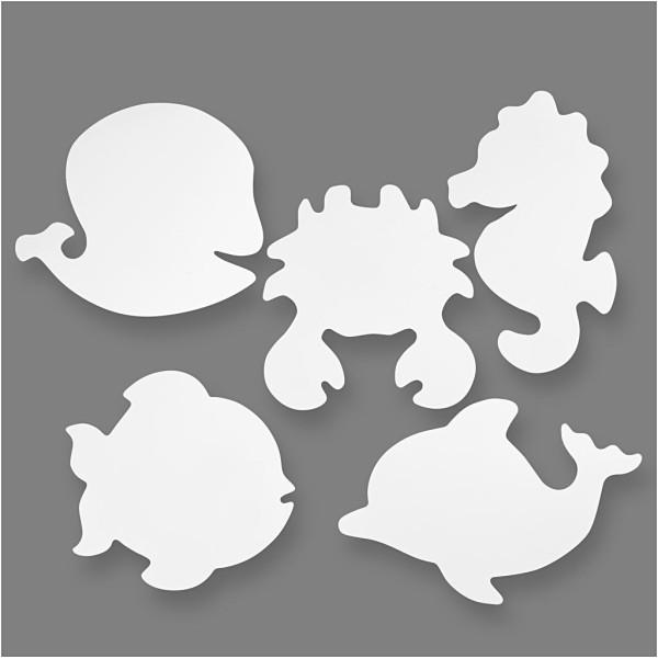Formes à décorer - Animaux de la mer - 16 pcs - Photo n°1