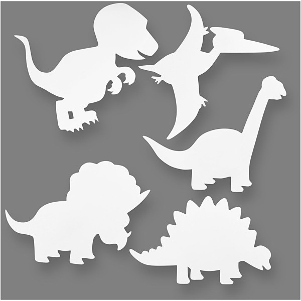 Formes à décorer - Dinosaures - 16 pcs - Photo n°1