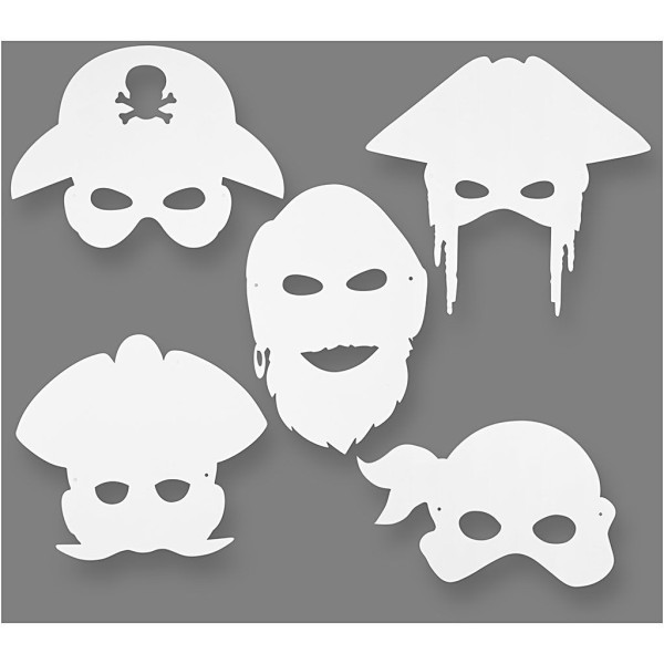 Masques à décorer - Pirates - 16 pcs - Photo n°1