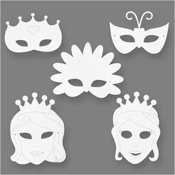 Masques à décorer - Conte de fée - 16 pcs - Photo n°1