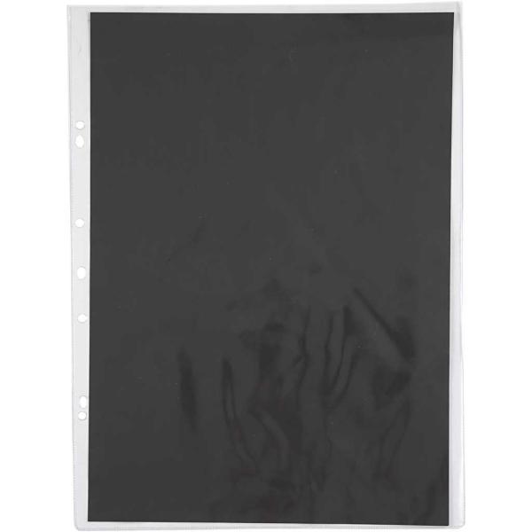 Pochette avec fond noir - 30 x 42 cm - 10 pcs - Photo n°1