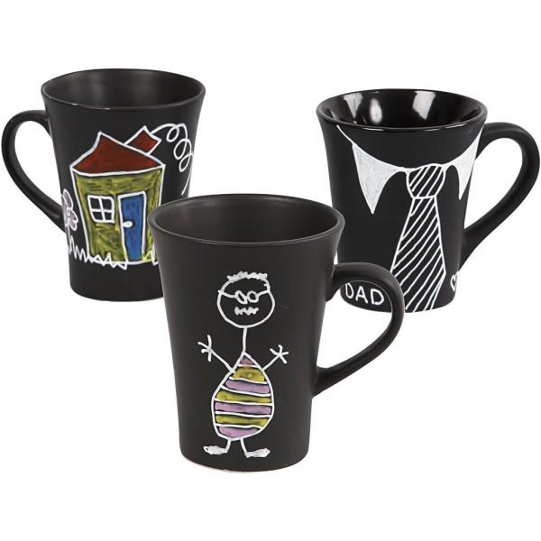 Décoration de tasses, 36 pièces, 1 set, Couleurs assorties, noir - Photo n°1