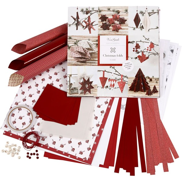 Assortiment Origami Noël - Rouge - Photo n°1