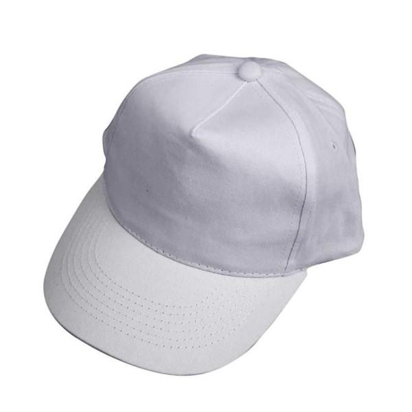 Casquette en coton à décorer - Blanc - 49,5 à 56 cm - Photo n°1