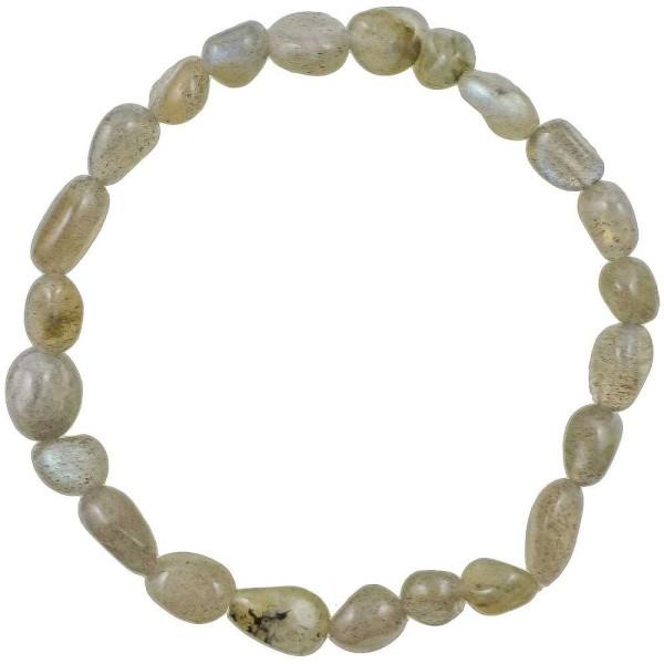 Bracelet en labradorite - Perles pierres roulées mini - Photo n°2